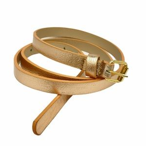 FREE WITH PURCHASE Rose Gold Skinny Belt